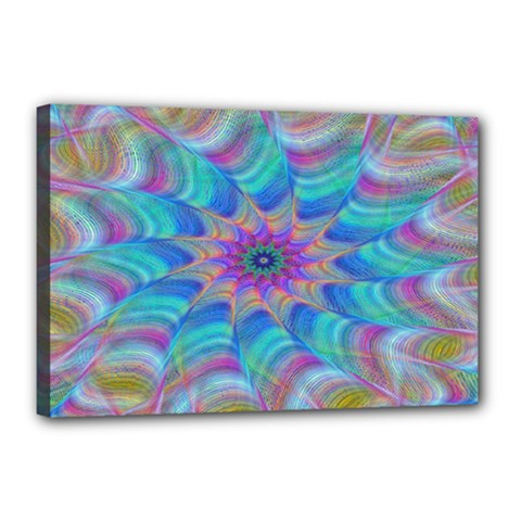Fractal Curve Decor Twist Twirl Canvas 18  X 12