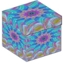 Fractal Curve Decor Twist Twirl Storage Stool 12