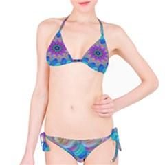Fractal Curve Decor Twist Twirl Bikini Set
