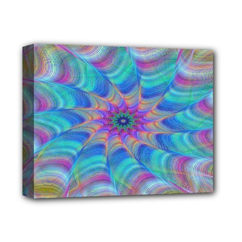 Fractal Curve Decor Twist Twirl Deluxe Canvas 14  X 11