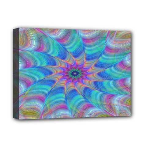Fractal Curve Decor Twist Twirl Deluxe Canvas 16  X 12