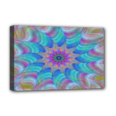Fractal Curve Decor Twist Twirl Deluxe Canvas 18  X 12