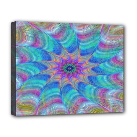 Fractal Curve Decor Twist Twirl Deluxe Canvas 20  X 16