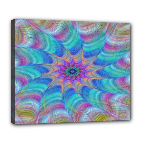 Fractal Curve Decor Twist Twirl Deluxe Canvas 24  X 20