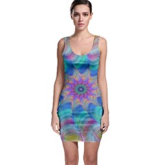 Fractal Curve Decor Twist Twirl Bodycon Dress