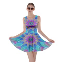 Fractal Curve Decor Twist Twirl Skater Dress