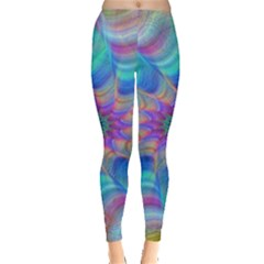 Fractal Curve Decor Twist Twirl Leggings