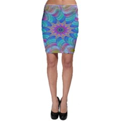 Fractal Curve Decor Twist Twirl Bodycon Skirt