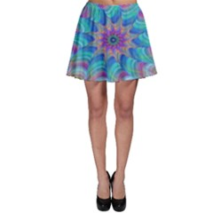Fractal Curve Decor Twist Twirl Skater Skirt