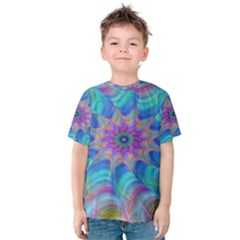 Fractal Curve Decor Twist Twirl Kids  Cotton Tee