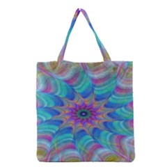Fractal Curve Decor Twist Twirl Grocery Tote Bag