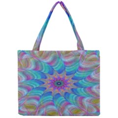 Fractal Curve Decor Twist Twirl Mini Tote Bag