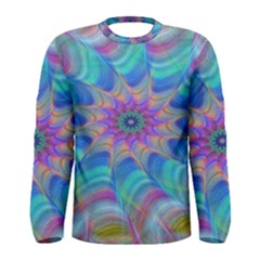 Fractal Curve Decor Twist Twirl Men s Long Sleeve Tee
