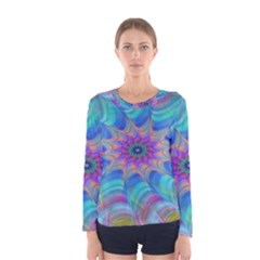 Fractal Curve Decor Twist Twirl Women s Long Sleeve Tee