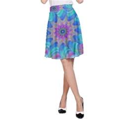 Fractal Curve Decor Twist Twirl A Line Skirt
