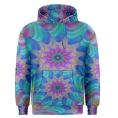 Fractal Curve Decor Twist Twirl Men s Pullover Hoodie