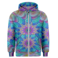 Fractal Curve Decor Twist Twirl Men s Zipper Hoodie