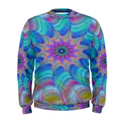 Fractal Curve Decor Twist Twirl Men s Sweatshirt