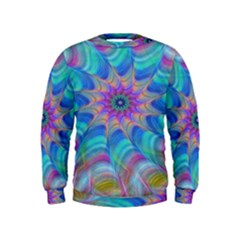 Fractal Curve Decor Twist Twirl Kids  Sweatshirt