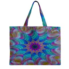 Fractal Curve Decor Twist Twirl Zipper Mini Tote Bag