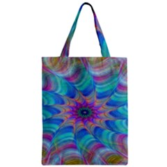 Fractal Curve Decor Twist Twirl Zipper Classic Tote Bag