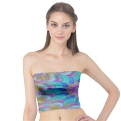 Fractal Curve Decor Twist Twirl Tube Top