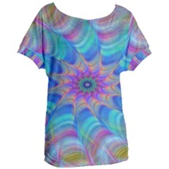 Fractal Curve Decor Twist Twirl Women s Oversized Tee