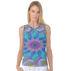 Fractal Curve Decor Twist Twirl Women s Basketball Tank Top