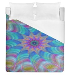 Fractal Curve Decor Twist Twirl Duvet Cover (queen Size)