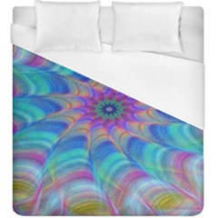Fractal Curve Decor Twist Twirl Duvet Cover (king Size)