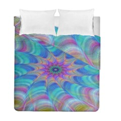 Fractal Curve Decor Twist Twirl Duvet Cover Double Side (full/ Double Size)