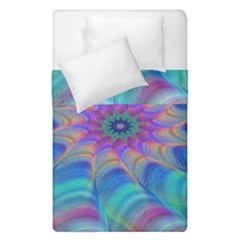Fractal Curve Decor Twist Twirl Duvet Cover Double Side (single Size)