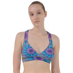 Fractal Curve Decor Twist Twirl Sweetheart Sports Bra