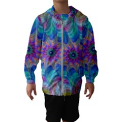 Fractal Curve Decor Twist Twirl Hooded Wind Breaker (kids)