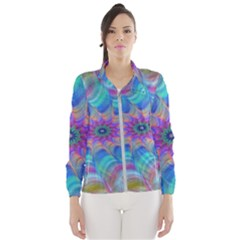 Fractal Curve Decor Twist Twirl Wind Breaker (women)