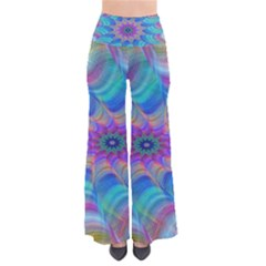 Fractal Curve Decor Twist Twirl Pants