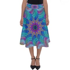 Fractal Curve Decor Twist Twirl Perfect Length Midi Skirt