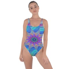Fractal Curve Decor Twist Twirl Bring Sexy Back Swimsuit