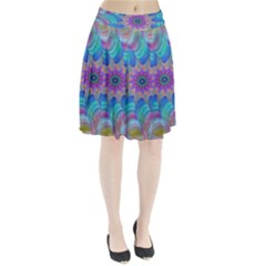 Fractal Curve Decor Twist Twirl Pleated Skirt