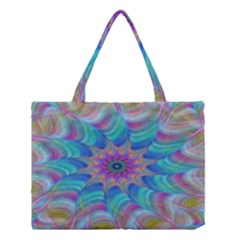Fractal Curve Decor Twist Twirl Medium Tote Bag