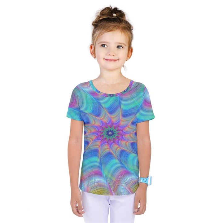 Fractal Curve Decor Twist Twirl Kids  One Piece Tee