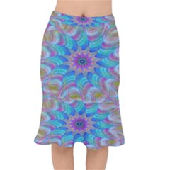 Fractal Curve Decor Twist Twirl Mermaid Skirt