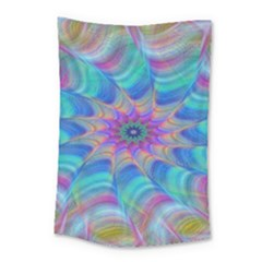Fractal Curve Decor Twist Twirl Small Tapestry