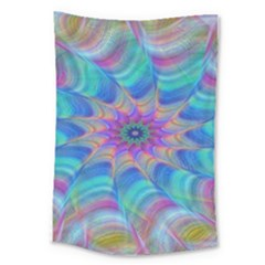 Fractal Curve Decor Twist Twirl Large Tapestry