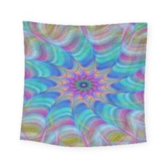 Fractal Curve Decor Twist Twirl Square Tapestry (small)