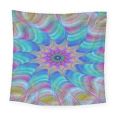 Fractal Curve Decor Twist Twirl Square Tapestry (large)