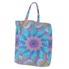 Fractal Curve Decor Twist Twirl Giant Grocery Zipper Tote