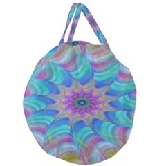 Fractal Curve Decor Twist Twirl Giant Round Zipper Tote