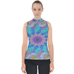 Fractal Curve Decor Twist Twirl Shell Top