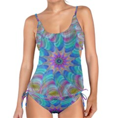 Fractal Curve Decor Twist Twirl Tankini Set
